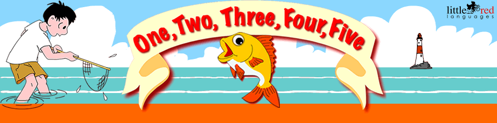 One, two, three, four, five | Nursery Rhyme | Little Red Languages