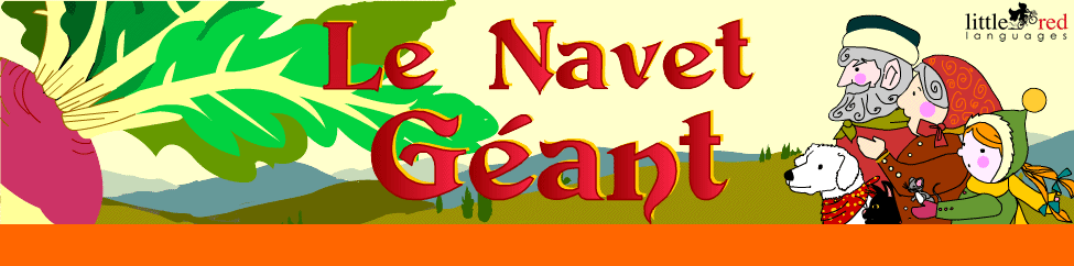 Le Navet Géant | French animated story | Little Red Languages