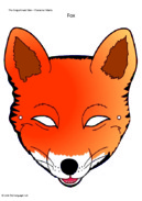 Free Printable Fox Mask Template 28 Collection Of Coloring