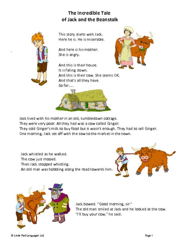 Juicy image within jack and the beanstalk printable story