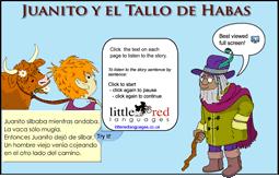 Juanito y el Tallo de Habas | Spanish story | Little Red